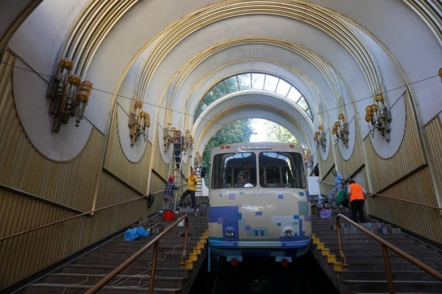 Киевский фуникулер отремонтировали и откроют 21 августа