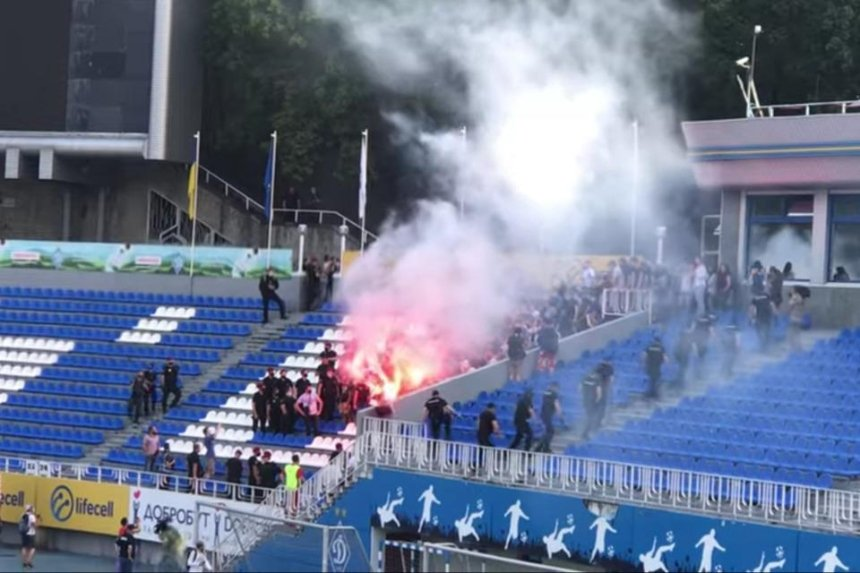Ультрас «Динамо» ворвались на первый матч клуба после назначения Луческу