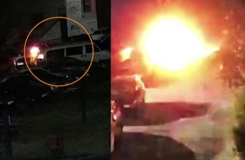 Поджог авто «Схем»: журналисты опубликовали видео с камер наблюдения
