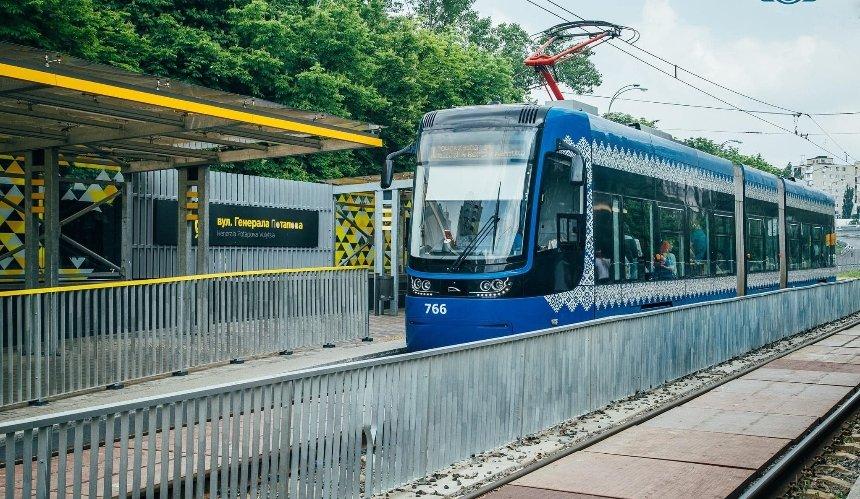 На Борщаговку снова запускают скоростной трамвай, но без некоторых остановок