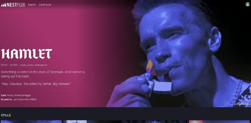 Скриншот с сайта nestflix.fun