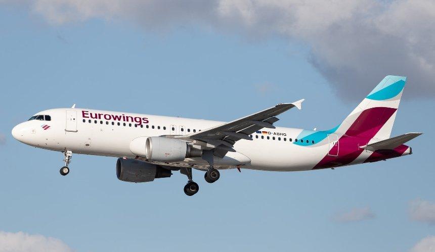 Немецкий лоукостерEurowings начинает летать в Киев: направления