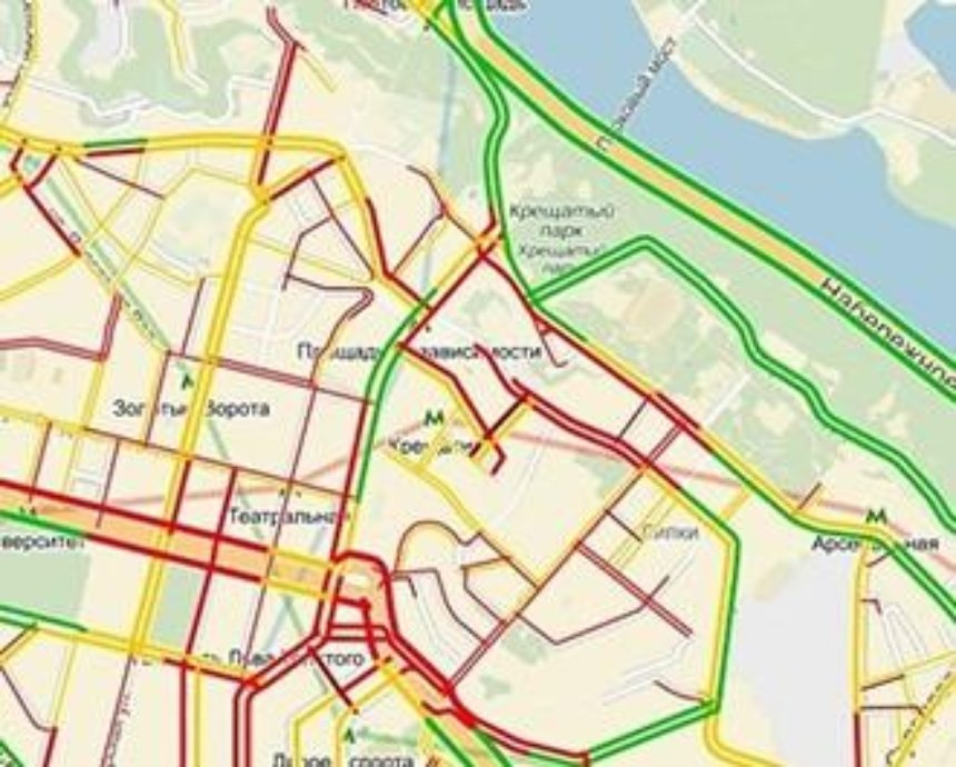 В Киеве митингующие перекрыли улицу Грушевского