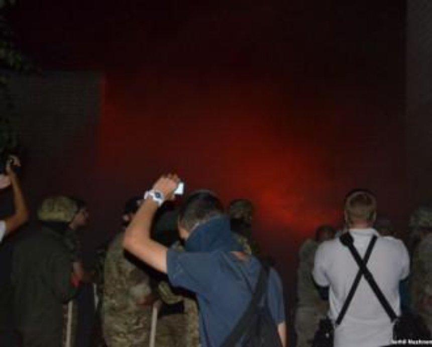 Полиция задержала 30 человек после драки на стройке в Святошинском районе (фото, видео)