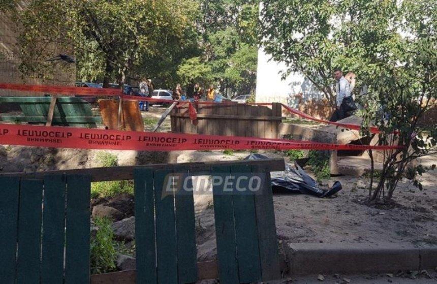 В Святошинском районе нашли обезглавленный труп (фото)