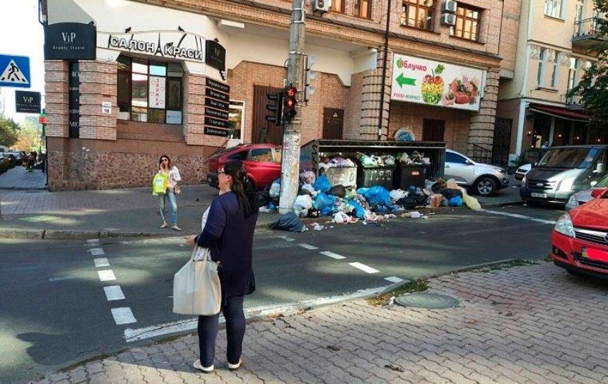 Зловонная реклама: в центре Киева растет мусорная свалка (фото)