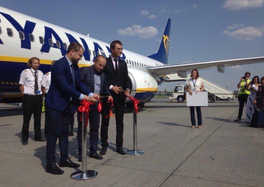 В«Борисполе» приземлился первый рейс Ryanair (фото, видео)