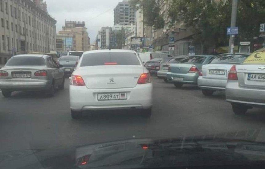 В Киеве заметили авто с номерами «ДНР» (фото)