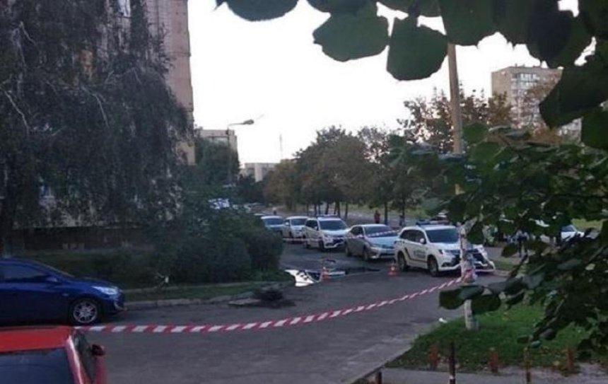 На Борщаговке стреляли из окна (фото)