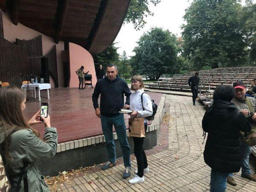 Олег Сенцов в Киеве презентовал книгу, написанную за решеткой