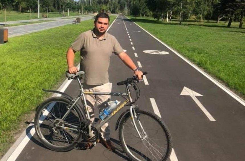 В столичном парке обустроили 600-метровую велодорожку