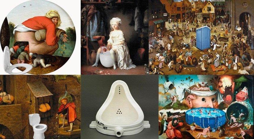 Столичный музей «оживил» картины известных художников сантехникой