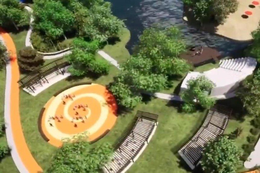 «Київзеленбуд» показал проект обновленного парка возле озера Жандарка