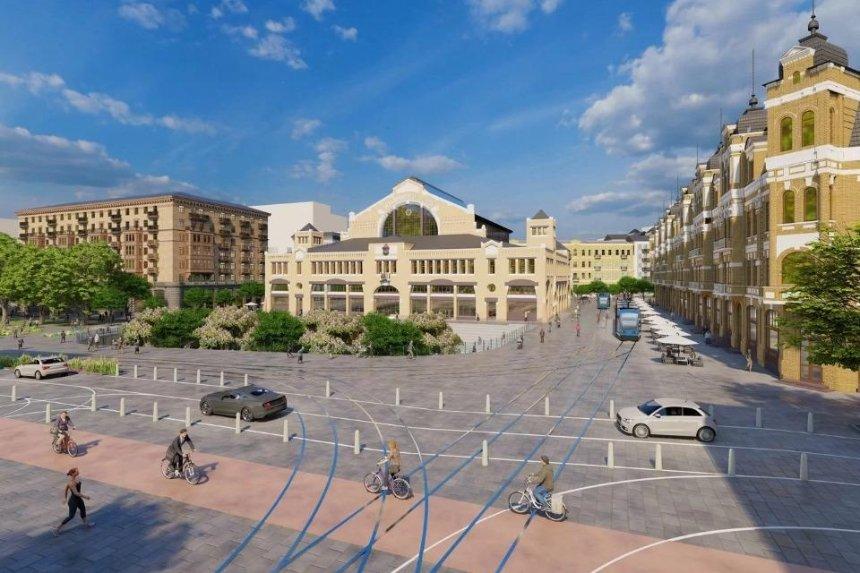 С трамваями и амфитеатром: как может выглядеть обновленная Бессарабская площадь
