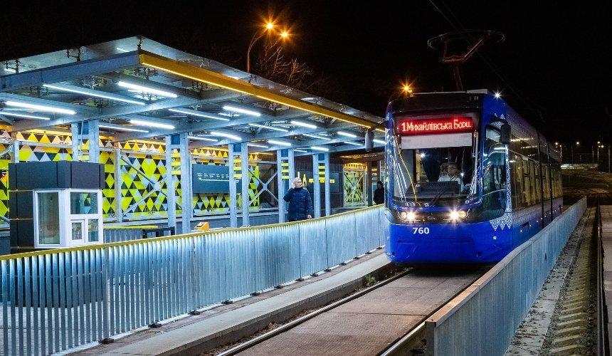 Маршрут скоростного трамвая на Борщаговку изменят до конца года