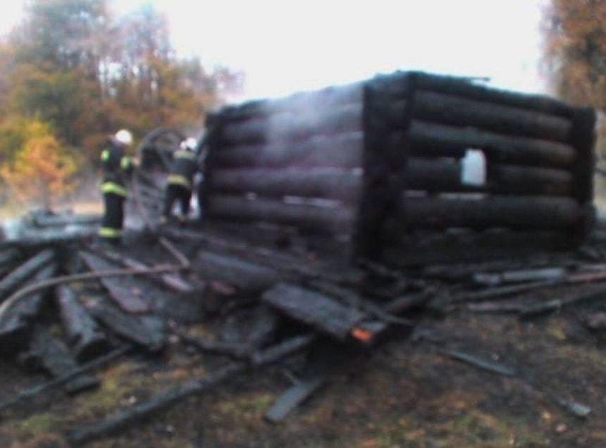 """В музее """"Пирогово"""" полностью сгорел один из домов"""