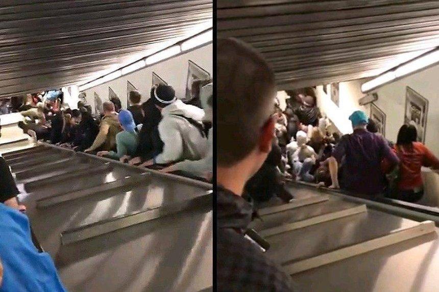В аварии на эскалаторе в римском метро пострадали украинцы (видео)