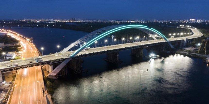НаПодольско-Воскресенском мосту установили освещение: как он выглядит вечером
