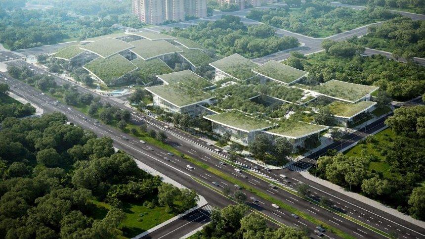 Датские архитекторы разработали для Китая городской кампус, которым будет управлять искусственный интеллект