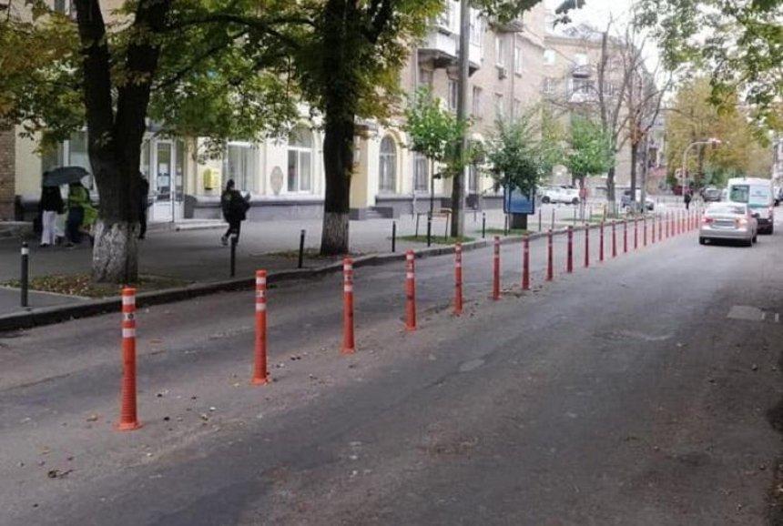 Улицу Лейпцигскую защитили от незаконной парковки