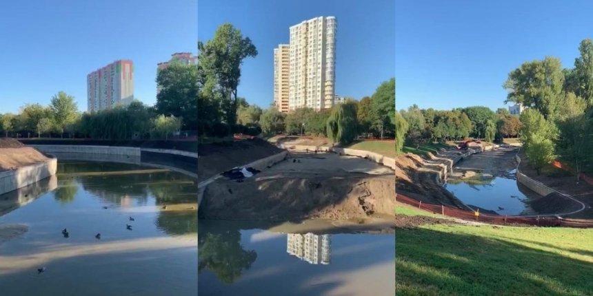 Впарке «Отрадный» восстанавливают озеро: что уже сделали