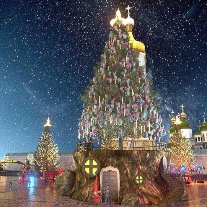 Стало известно, как будет выглядеть главная елка страны