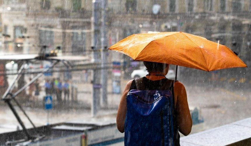 Штормовое предупреждение: наКиев надвигается сильный дождь иветер