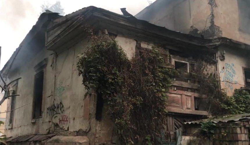 НаПодоле горел 180-летний памятник архитектуры