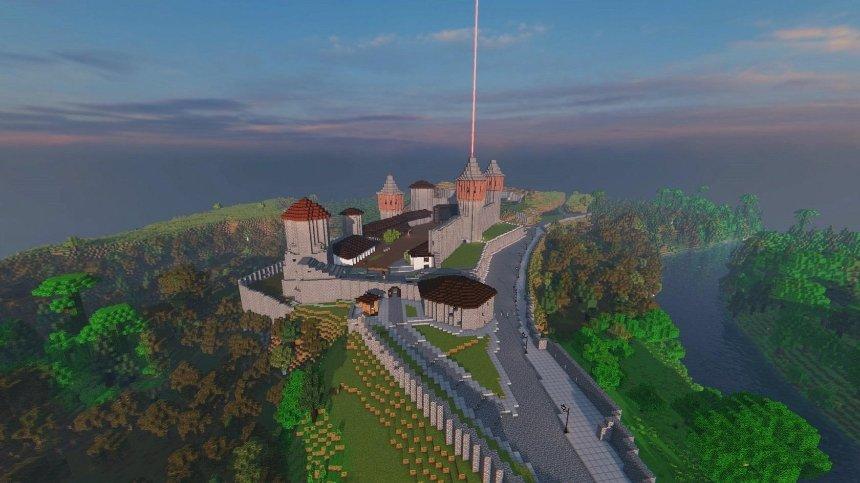 Каменец-Подольский воссоздали в игре Minecraft