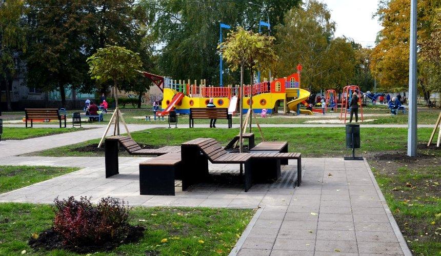 ВСвятошинском районе завершили капремонт нового сквера