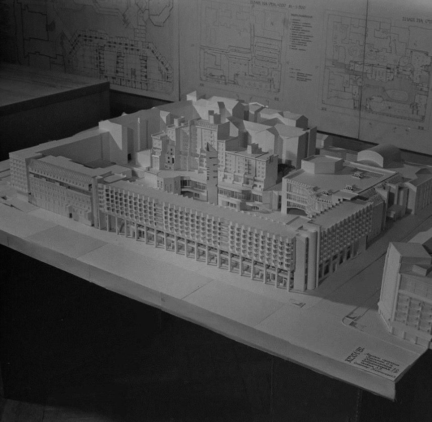 Каким мог быть Крещатик: опубликованы проекты застройки центра столицы советских времен (фото)
