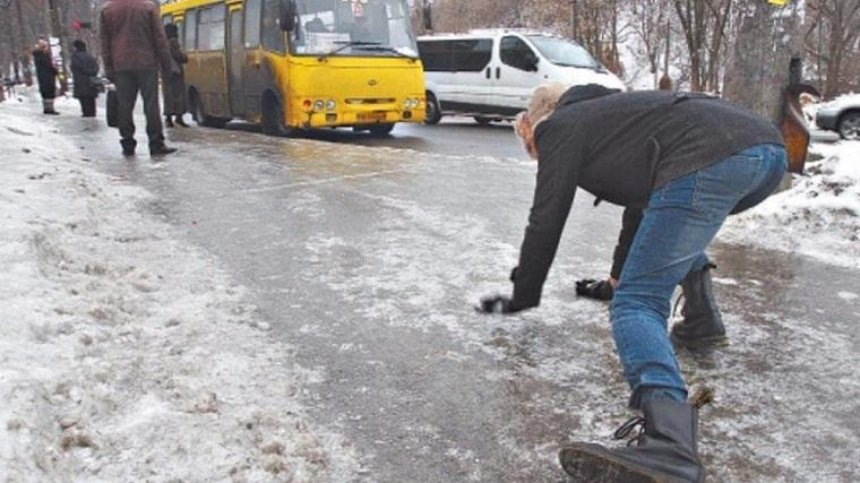 Киевлян предупредили о гололедице