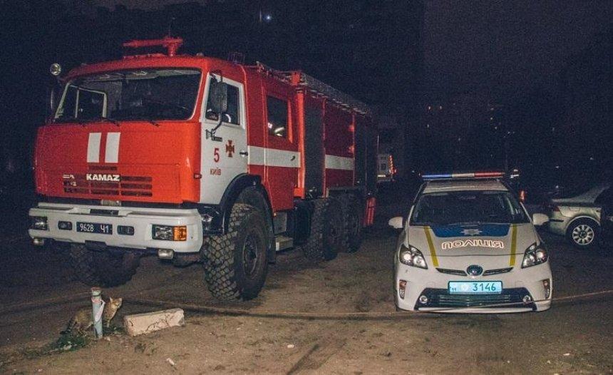 Пожар на подстанции оставил часть киевлян без света (фото)