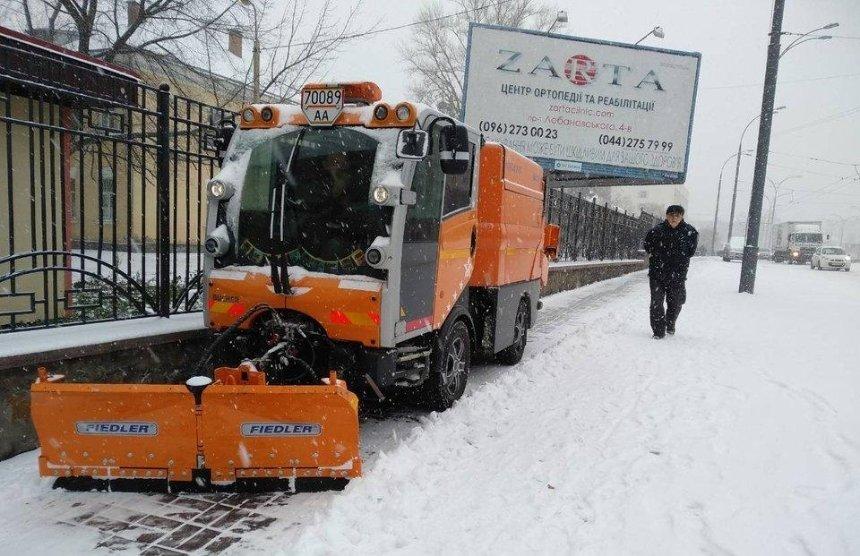 Команда Кличко справилась с последствиями первого снегопада