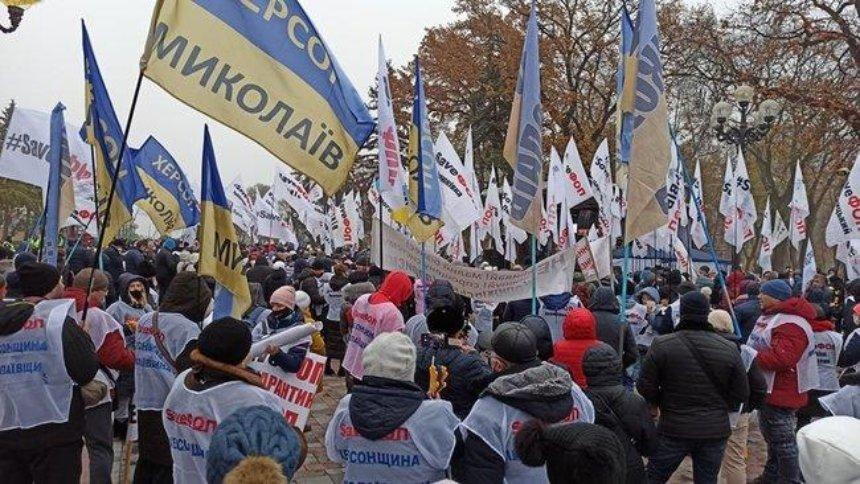 «Налоговый майдан»: предприниматели вышли намитинг под Верховной Радой