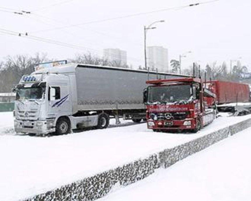Власти Киева ограничили въезд грузовиков в город