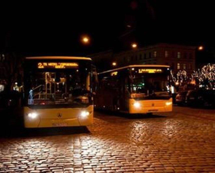 В Новый год в Киеве запустят ночные маршруты транспорта