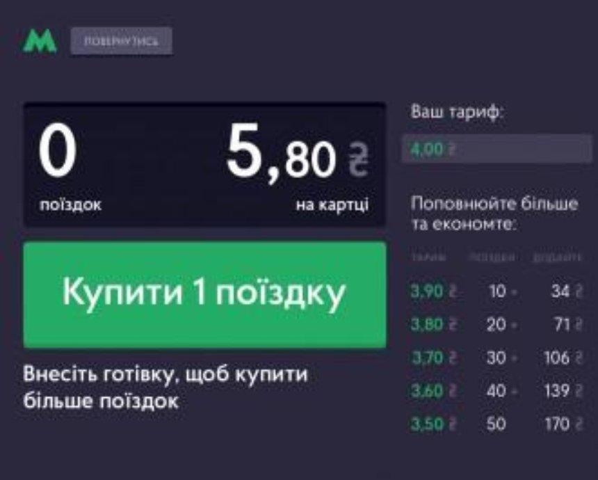 В киевском метро изменится интерфейс автоматов пополнения карточек (фото)