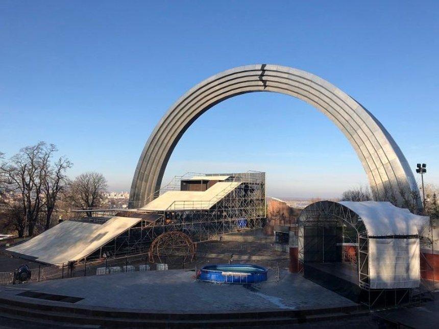 В субботу открывается главный снежный спот Киева под аркой Дружбы народов