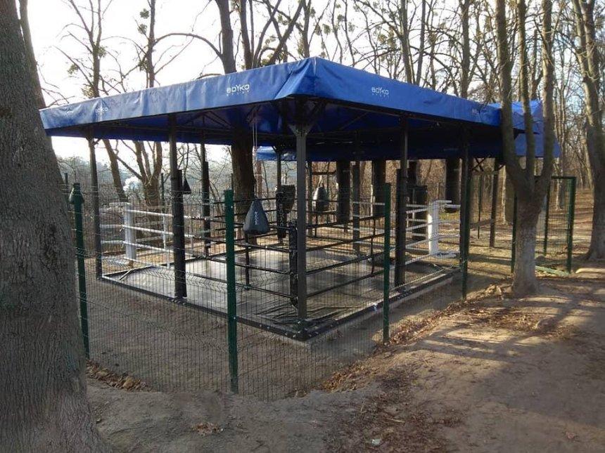 В парке на Сырце установили боксерский ринг (фото)