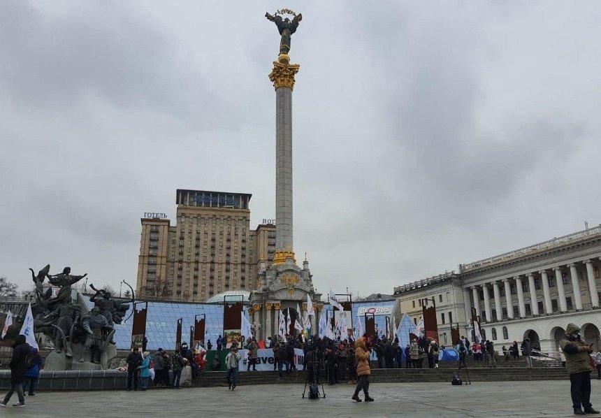 Предприниматели продолжают протестовать на Майдане (обновлено)
