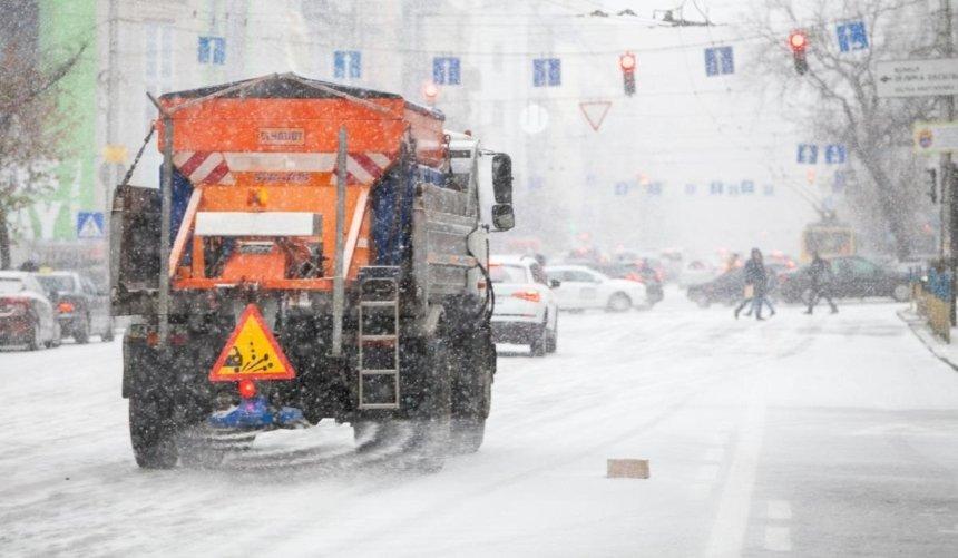 Киев сковали пробки: из-за снегопада увеличилось количество ДТП