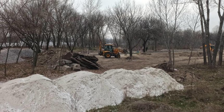 Взаливе Берковщина началось строительство нового парка