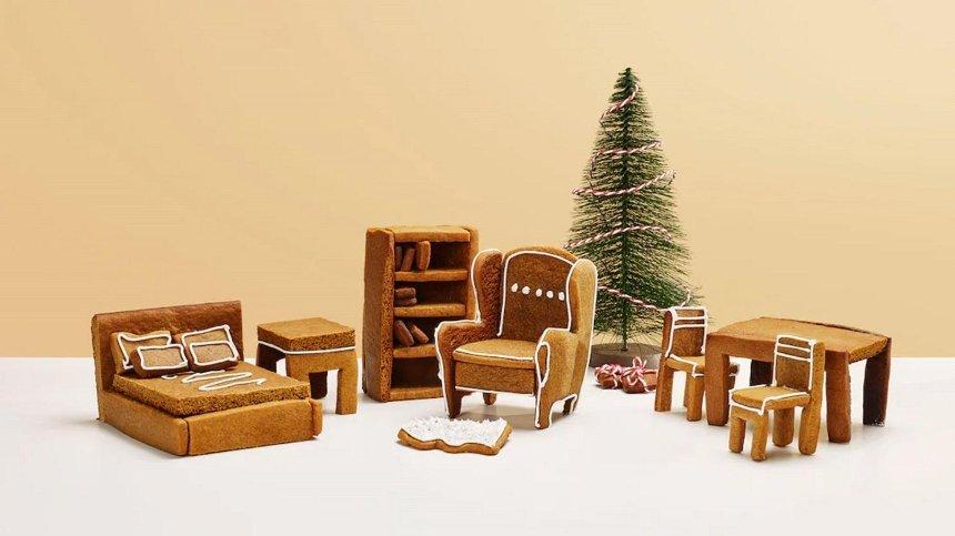 IKEA выпустила комплект мебели из имбирных пряников