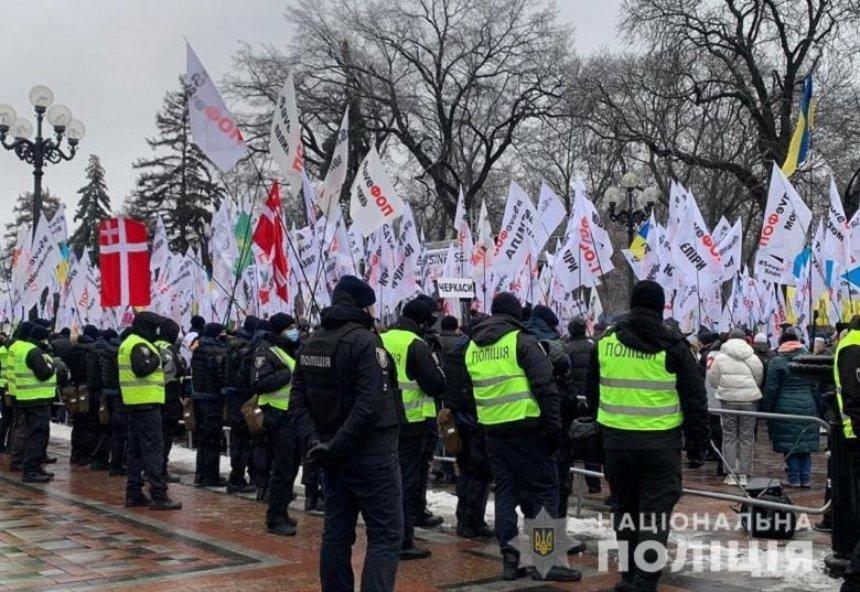Предприниматели заблокировали движение в центре Киева