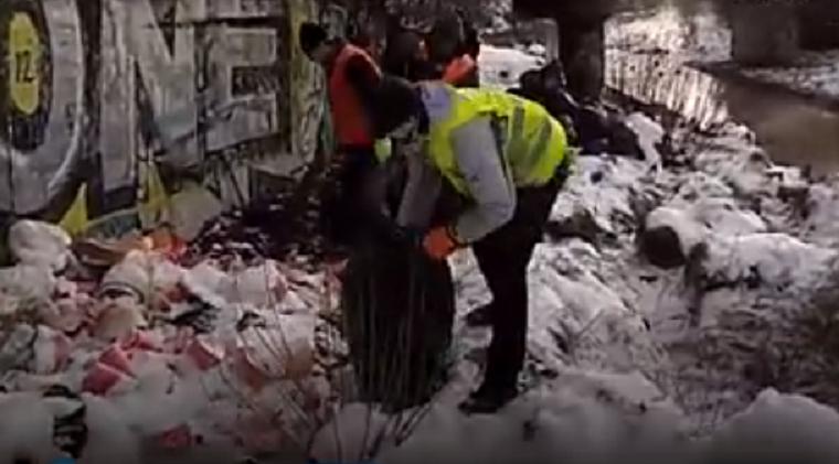 Набережную Лыбеди очистили от мусора (видео)