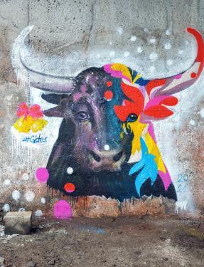 В Киеве появился красочный мурал, посвященный 2021 году