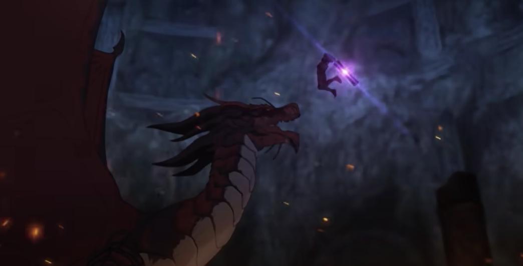 Опубликован новый трейлер аниме DOTA: Dragon's Blood