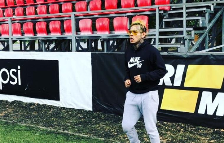 Известный американский рэппер сыграл в футбол в Киеве (видео)