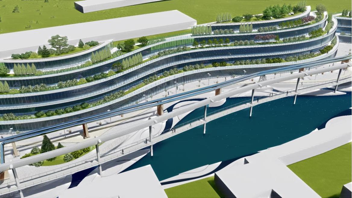 На берегу Лыбеди предлагают построить технопарк, а трубы теплотрассы покрыть зеркалами (фото)